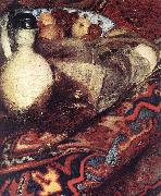 VERMEER VAN DELFT, Jan A Woman Asleep at Table (detail) ert oil painting picture wholesale